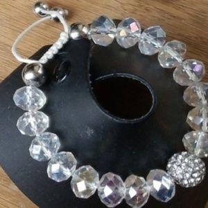 String adjustable Crystal bracelet